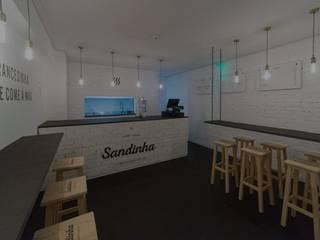 Bares y clubs de estilo minimalista de Prática 04 - Arquitetura e Engenharia Minimalista