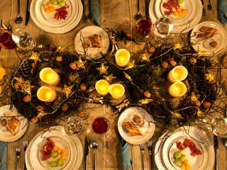 Mesa vestida para Navidad. MARIANGEL COGHLAN