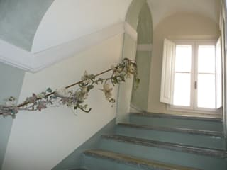 Ing. Vitale Grisostomi Travaglini Mediterranean style corridor, hallway and stairs