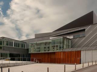 Auditorio y Centro Socio-Cultural Soreasu. Azpeitia.: Casas de estilo moderno de asieracuriola arquitectura
