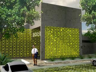 Salas de eventos de estilo  por Henrique Rocha Arquitetura , Moderno