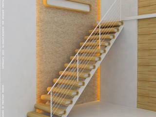 Staircase designs Modern living room by Preetham Interior Designer Modern