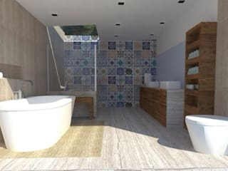 Salle de bain moderne par Detalle Cúbico Moderne