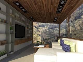 Projectos y Espacios: Salas de estilo  por Detalle Cúbico