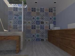 Projectos y Espacios: Baños de estilo  por Detalle Cúbico