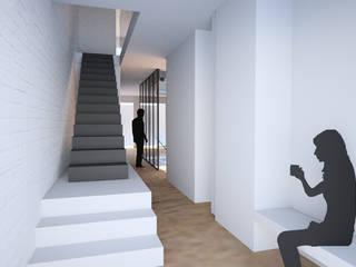 PSGN 11 Pasillos, vestíbulos y escaleras de estilo minimalista de BONBA studio Minimalista