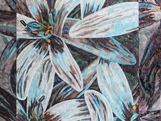 «Белые лилии»:  в . Автор – Мастерская художественной мозаики 'SMALTO'