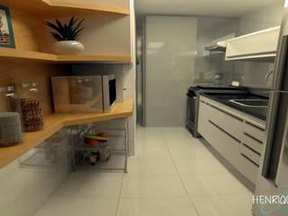 Cocinas de estilo  por Henrique Rocha Arquitetura , Moderno