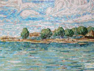 «Морской пейзаж»:  в . Автор – Мастерская художественной мозаики 'SMALTO'