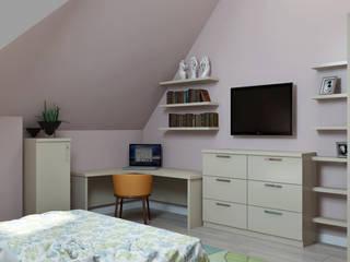 Dormitorios de estilo  por СТУДИЯ ДИЗАЙНА ЭЛИТНЫХ ИНТЕРЬЕРОВ АЛЕКСАНДРА ЕЛАШИНА.