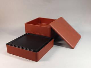 和紙貼り3段重箱: 町田俊一漆芸研究所 Lakkaが手掛けたです。