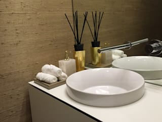 homify Modern style bathrooms MDF Beige