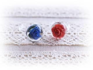 お花モチーフアクセサリー: RINVERREが手掛けた折衷的なです。,オリジナル