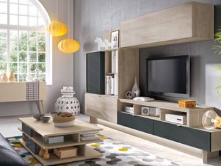 Modular de salón de 300 cm Merkamueble SalasMuebles de televisión y dispositivos electrónicos