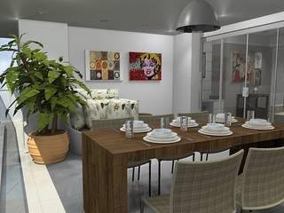 Oficinas y Tiendas de estilo  por ROSANA MEIRELLES - Arquitetura e Decoração , Moderno