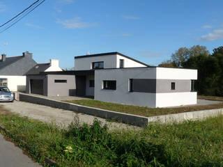 Maison neuve BBC Maisons modernes par BERNIER ARCHITECTE Moderne