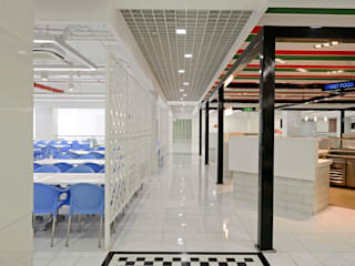 Cafeterias for EON Free Zone :  Commercial Spaces by Aijaz Hakim Architect [AHA],
