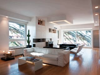 Modern living room by SERENA ROMANO' ARCHITETTO Modern