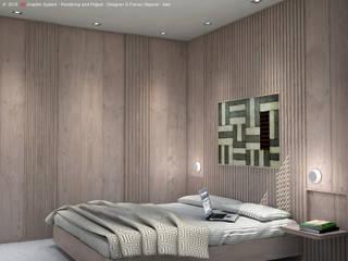 Ristrutturazione Appartamento 56mq: Camera da letto in stile in stile Moderno di 3D Graphic System