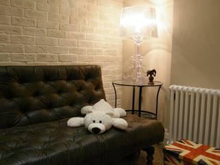Fusion style flat Salones de estilo industrial de Alexander Krivov Industrial