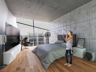 Chambre moderne par Proyecto Cafeina Moderne