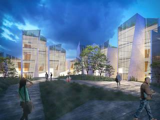 Render 2: Casas de estilo moderno por Proyecto Cafeina