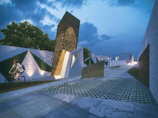 Render 3: Casas de estilo moderno por Proyecto Cafeina