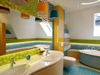 Zaczarowany świat - łazienka dla dzieci Nowoczesna łazienka od TOKA + HOME Nowoczesny