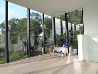 Tour vitrée ARTERRA Jardin d'hiver minimaliste Bois Effet bois