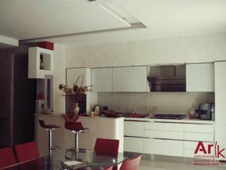 CUBE_House Soggiorno moderno di arkfattoriale Moderno