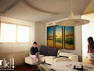 Circle_House Soggiorno moderno di arkfattoriale Moderno