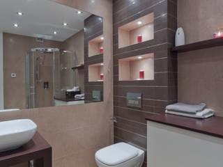 Mieszkanie po remoncie Nowoczesna łazienka od ZAWICKA-ID Projektowanie wnętrz Nowoczesny