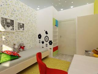 Mieszkanie na Woli Nowoczesny pokój dziecięcy od ZAWICKA-ID Projektowanie wnętrz Nowoczesny