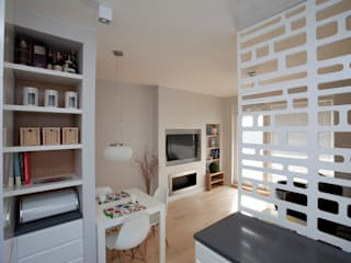 Mieszkanie dla Pani doktor Nowoczesny salon od ZAWICKA-ID Projektowanie wnętrz Nowoczesny