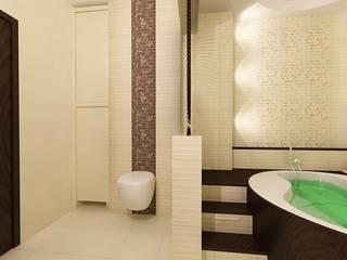 Łazienka w stylu orientalnym Azjatycka łazienka od ZAWICKA-ID Projektowanie wnętrz Azjatycki