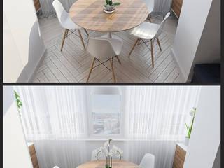 """Визуализации проекта """"Частичка Скандинавии"""" Балкон в скандинавском стиле от Alyona Musina Скандинавский"""