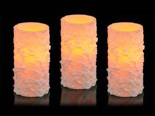3er-Set flammenlose LED-Kerze von Lesara Ausgefallen