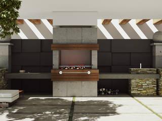 Asador Clasico Jardines modernos de Modulor Arquitectura Moderno