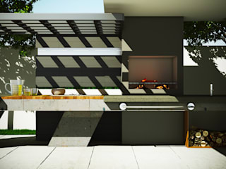 Asador Moderno Jardines modernos de Modulor Arquitectura Moderno