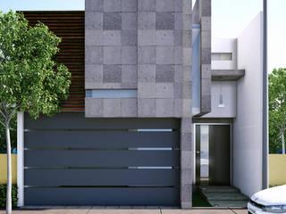 Fachada MRios Casas modernas de Modulor Arquitectura Moderno Piedra