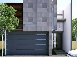 Casas de estilo  por Modulor Arquitectura, Moderno Piedra