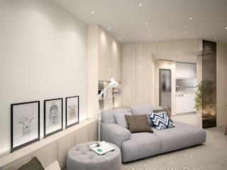 Illumination Terrace | Tai Hang | Hong Kong Modern living room by Nelson W Design Modern