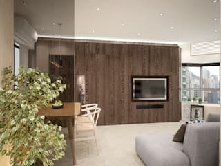 Illumination Terrace 光明臺 | Tai Hang Road 大坑道 Nelson W Design Salas de estilo moderno Madera Beige