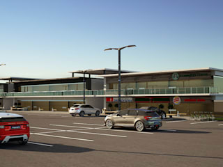 Locales Comerciales IMSS Centros comerciales de estilo moderno de Modulor Arquitectura Moderno