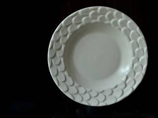 """ウロコ深皿 piatto fondo """"pesce"""": monoton ceramic laboが手掛けたです。"""