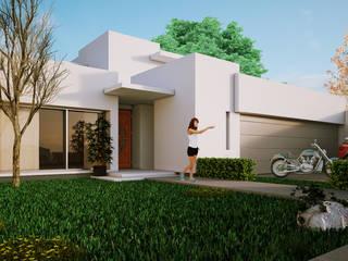 Fachada Leones Casas minimalistas de Modulor Arquitectura Minimalista