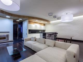 Современная квартира 180 м.кв. в центре Москвы Гостиная в стиле лофт от ARTteam Лофт