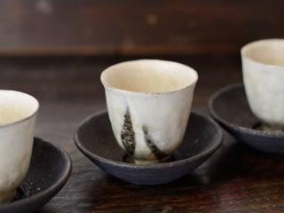 茶杯・茶托: 八木 信樹が手掛けたアジア人です。,和風