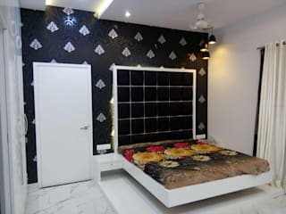 Bedroom Wall concept: modern Bedroom by Krishna Equytech