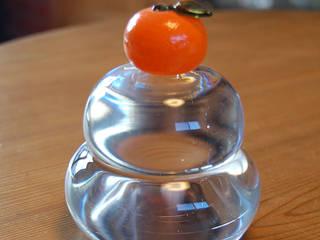 つぶつぶみかんの鏡餅: 田井将博 グラスタイムが手掛けたです。